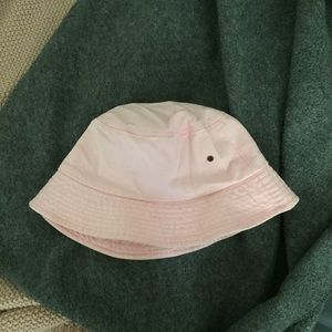 Blush pink bucket hat
